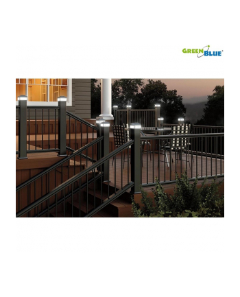 GreenBlue GB126 Lampa solarna na słupek LED 60*60 daszek kopertowy