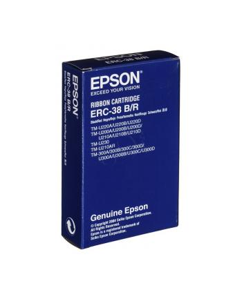 Taśma Epson czarna/czerwona ERC38BR | TM-300/U300/U210D/U220/U230