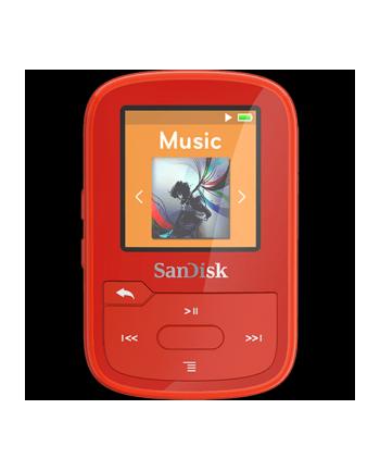 Sandisk odtwarzacz MP3 16GB CLIP SPORT PLUS - czerwony