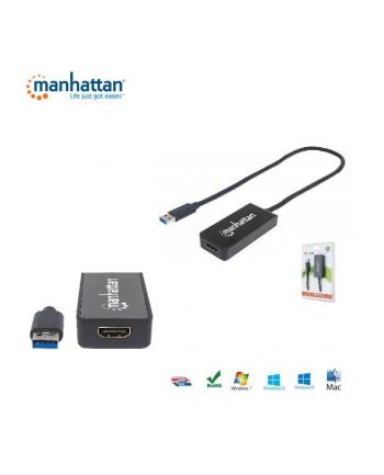 Manhattan Konwerter adapter SuperSpeed USB 3.0 na HDMI M/F 1080p czarny