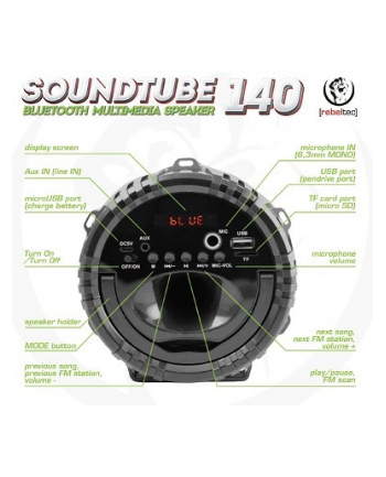 Głośnik bluetooth Rebeltec SoundTube 140 RED