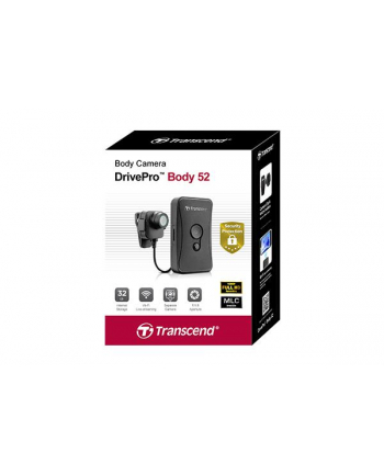 Transcend body camera, 32G DrivePro Body 52, Non-LCD, External Camera
