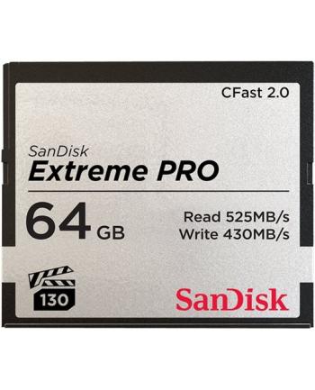 Karta pamięci Compactflash SanDisk Extreme PRO 64GB 525/430 MB/s CFAST 2.0