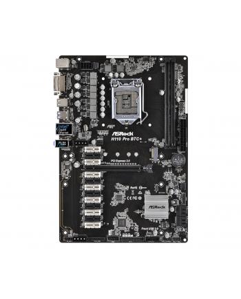 Płyta główna ASRock H110 PRO BTC+ Intel H110 Socket 1151 (EAN 4717677333763) (płyta dla koparek kryptowalut)