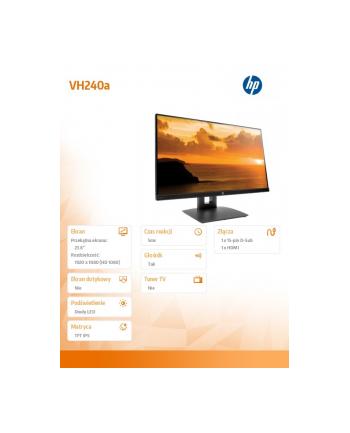 HP Inc. 23.8''  VH240a Monitor 1KL30AA