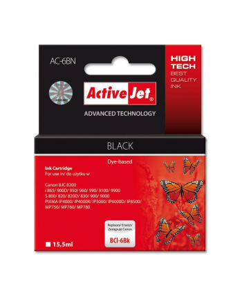 ActiveJet AC-6BK tusz czarny do drukarki Canon (zamiennik BCI-6BK)