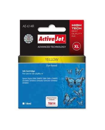 ActiveJet AER-614 tusz yellow do drukarki Epson (zamiennik T0614)