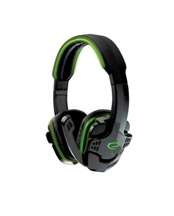 ESPERANZA EGH310G Słuchawki Stereo z Mikrofonem dla graczy - RAVEN - ZIELONE