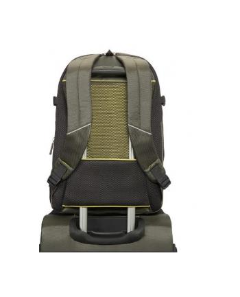 Backpack M SAMSONITE 37N04002 16'' 4MATION komp, tablt, dok.kiesz,oliwkowo/żółty