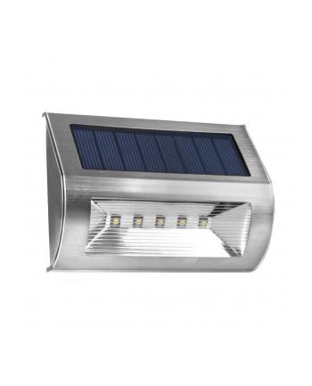 Maclean MCE170 Lampa solarna ścienna 5 SMD inox