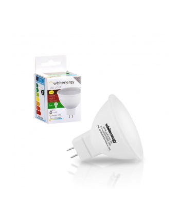 Whitenergy żarówka LED   GU5.3   8 SMD 2835   7W   230V   mleczne   MR16