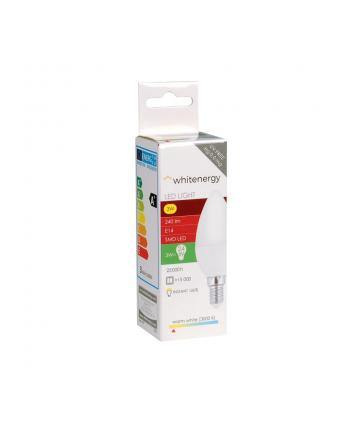 Whitenergy Żarówka LED   6xSMD2835  C37   E14   3W   230V  ciepłe biała  mleczne