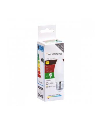 Whitenergy Żarówka LED | 10xSMD2835| C37| E27 | 5W | 230V |ciepłe biała| mleczne