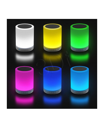 Media-Tech LIGHTBOX BT TOUCH - Kompaktowy głośnik Bluetooth z wbudowana lampka LED,