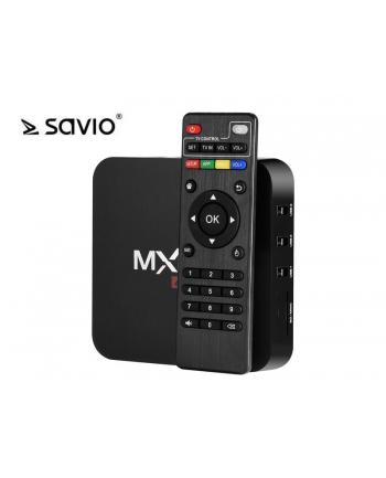 SAVIO TVBOX-01, Android 6.0, HDMI v 2.0, 4K UHD, 4xUSB, WiFi, SD/MMC