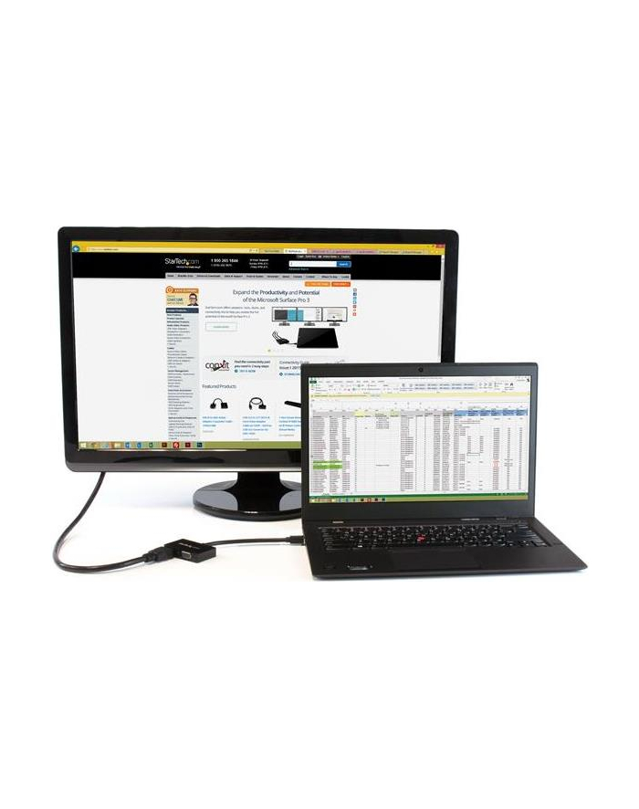 StarTech.com Travel A/V adapter: 2-in-1 Mini DisplayPort to HDMI or VGA converter - Video converter - DisplayPort - black