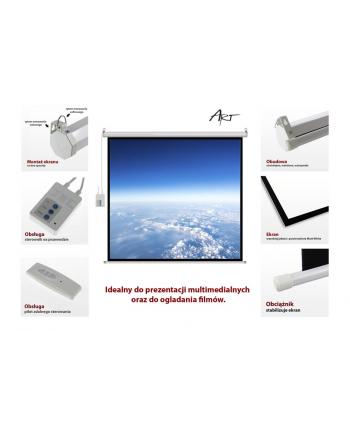 ART Ekran elektryczny 16:9 119' 264x147cm z pilotem FS-119 16:9