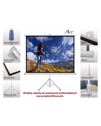 ART Ekran ręczny na statywie 4:3 100' 203x152cm TS-100 4:3