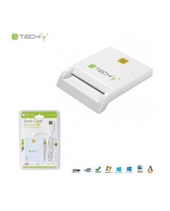 Techly Kompaktowy czytnik USB 2.0 kart Smart biały