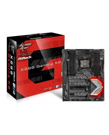 ASRock MB Sc LGA2066 Fatal1ty X299 Gaming K6, Intel X299, 8xDDR4