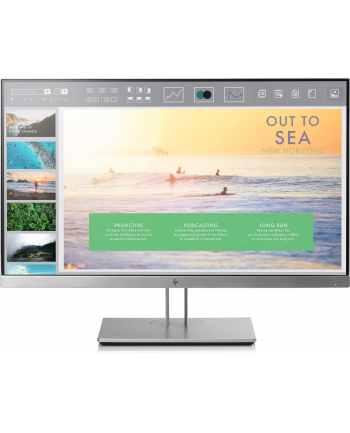 HP LCD E233 23 1920x1080, IPS LED 250 cd/m2, 1000:1, 5 ms g/g, VGA, DP 1.2, HDMI 1.4, USB3.0