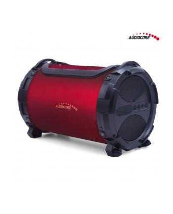 GreenBlue Audiocore AC880 Głośnik bazooka, bluetooth, FM, karta microSD, bordowy, 2000mAh