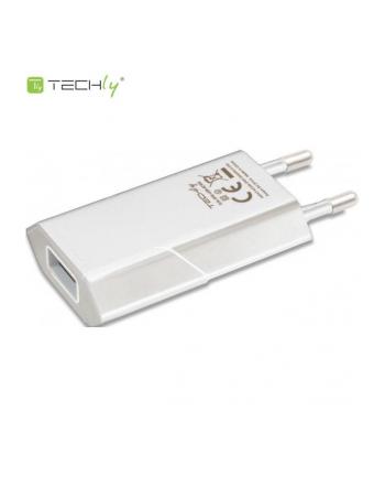 Techly Sieciowa ładowarka USB Slim 230V -> 5V/1A biała