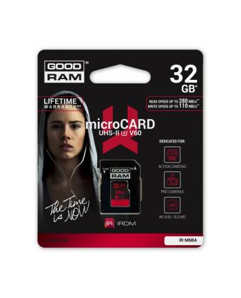 GOODRAM microSDHC 32GB V60 UHS-II U3 280/110 MB/s Iridium