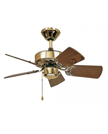 CasaFan Classic Royal 132 - Polished Brass