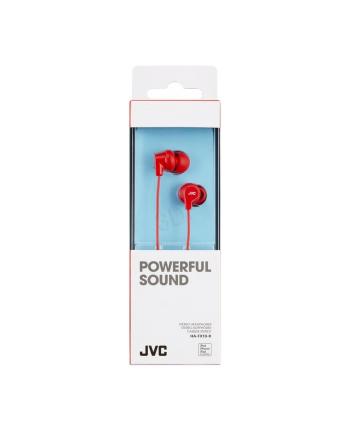 Słuchawki JVC HA-FX10-R-E douszne czerwone
