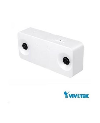 Vivotek SC8131, 2.7 Mpix, 15 sn/s, 2x obj., DI/DO, PoE 802.3af/USB2.0, MicroSDXC, 3D
