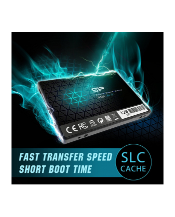 Silicon Power Dysk SSD Slim A55 128GB 2.5'', SATA3 6GB/s, 560/530 MB/s, 3D NAND