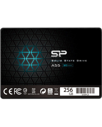 Silicon Power Dysk SSD Slim A55 256GB 2.5'', SATA3 6GB/s, 560/530 MB/s, 3D NAND