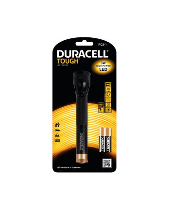 Duracell Latarka LED TOUGH FC-1, wodoodporna + 2x AA