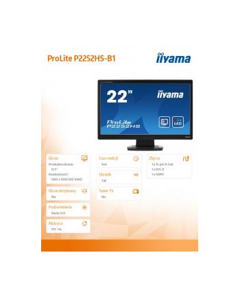IIYAMA 22'' P2252HS-B1 PROTECTIVE,SP,KEYLOCK,FH