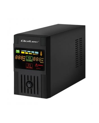 Qoltec Zasilacz awaryjny UPS MONOLITH | 1200VA | 720W | LCD | USB