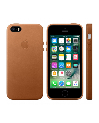 Apple iPhone SE Leather Case Saddle Brown   MNYW2ZM/A