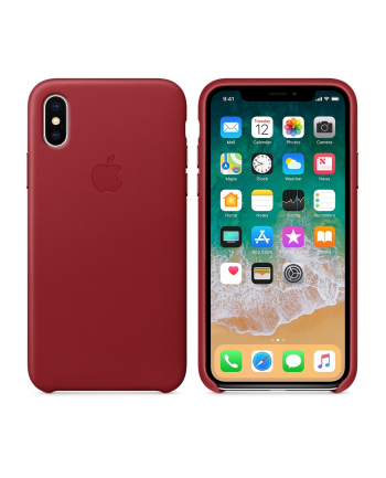 Apple iPhone X Leather Case - (PRODUCT)RED