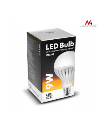 Maclean MCE177CW Żarówka LED E27 9W 230V zimy biały mikrofalowy czujnik ruchu