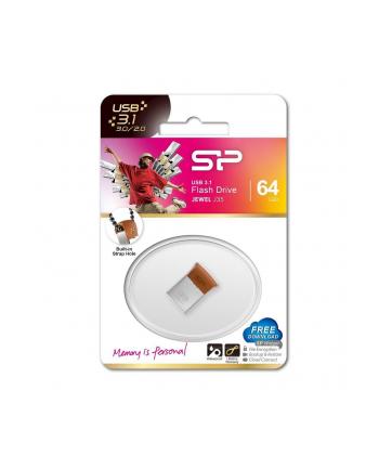 Silicon Power Pamięć USB Jewel J35 64GB USB 3.1 COB metal Brązowa