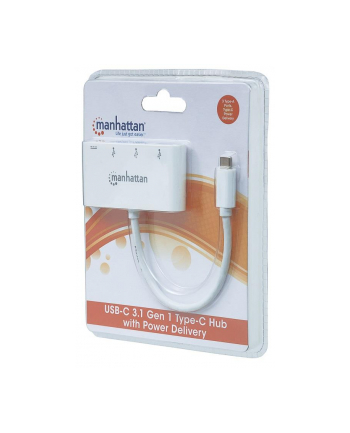 Manhattan Hub SuperSpeed USB-C 3.1 3-portowy 3x USB typ-A 1x USB-C PD