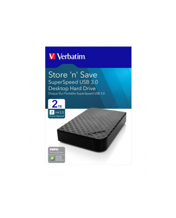 Verbatimdtsk zewnętrzny Store ''n'' Save 3.5'' (8,89cm) GEN 2 2TB USB 3.0