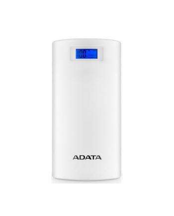 ADATA P20000D Power Bank, 20000mAh, LED flashlight, white