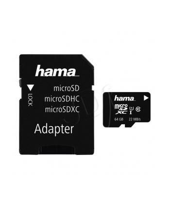 Hama Polska micro SDXC 64GB Class 10 + Adapter microSD-SD