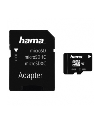 Hama Polska micro SDHC 16GB Class 10 + Adapter microSD-SD