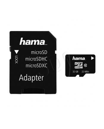Hama Polska micro SDHC 32GB Class 10 + Adapter microSD-SD