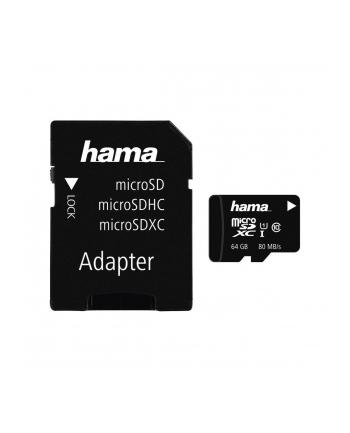 Hama Polska micro SDXC MSDXC 64GB Class 10 + Adapter microSD-SD