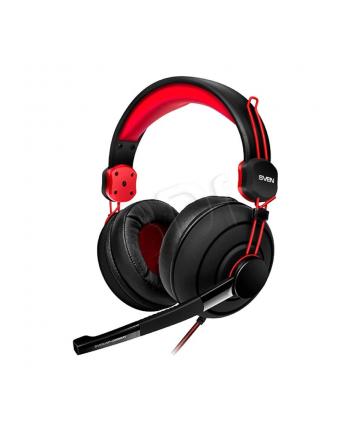 Słuchawki nauszne z mikrofonem SVEN AP-G888MV (czarno-czerwony)