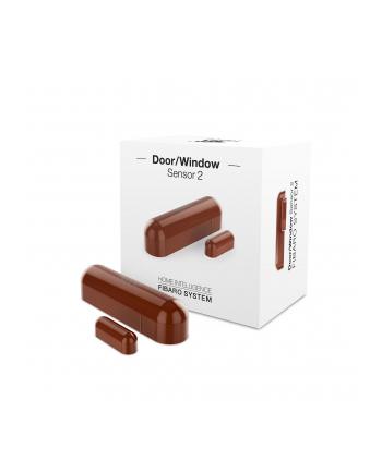 Fibaro Sensor 2 Czujnik otwarcia drzwi/okna i temperatury wewnętrzny truflowy