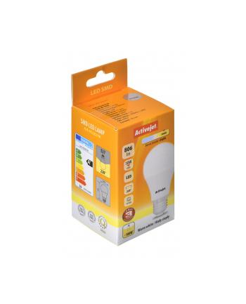 Activejet żarówka LED Glob 10W 806lm E27 b. ciepła